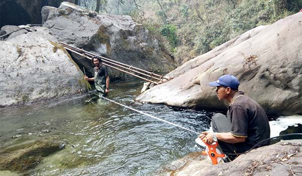 Monthly Discharge Measurement of Garchyang Khola for Garchyang Khola Hydropower Project