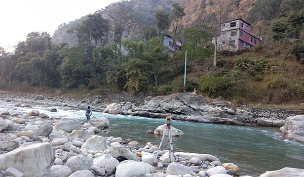 Detailed Topographic Survey work for the river Training of Myagdi District